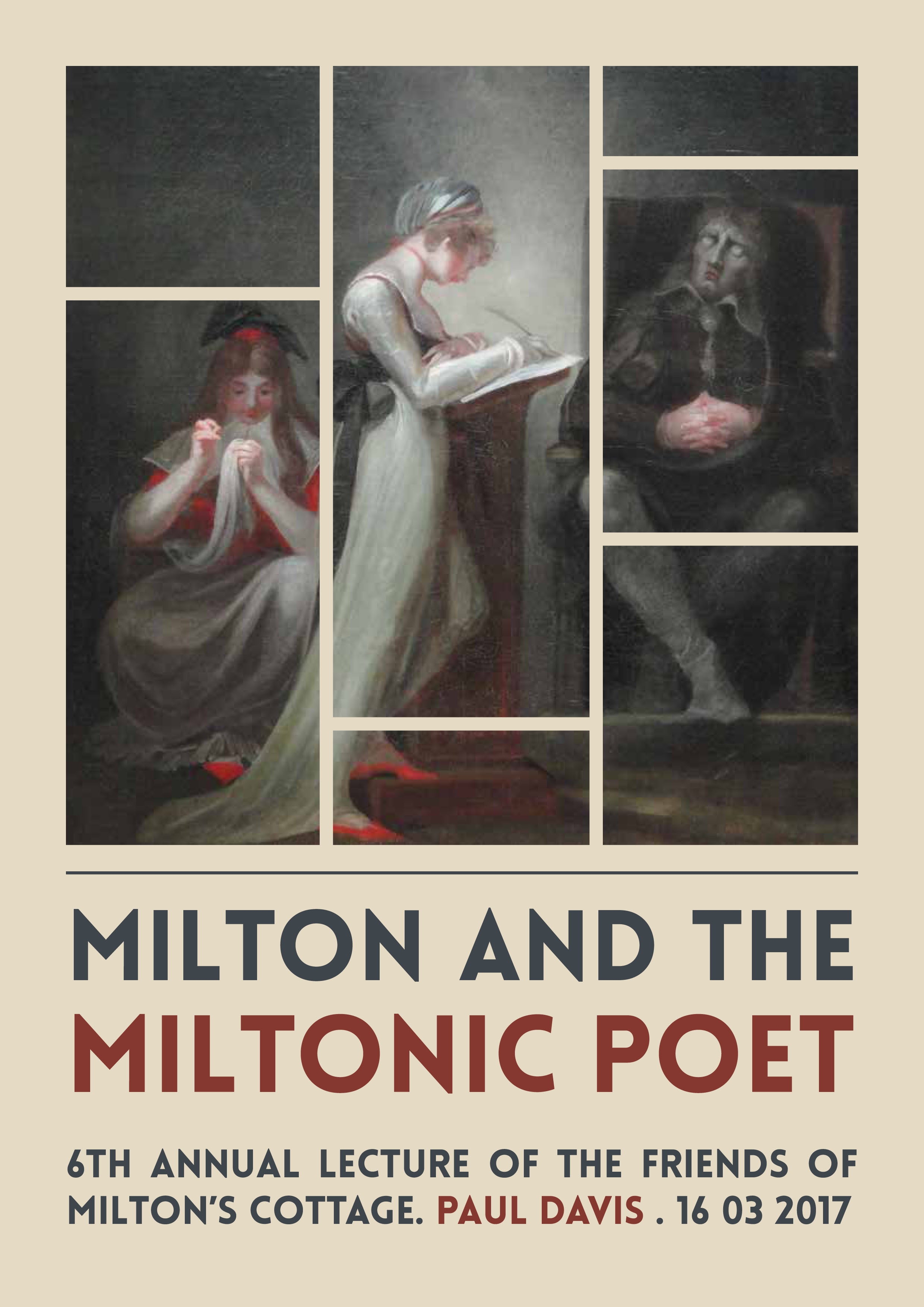 Milton and the Miltonic Poet: 6th annual lecture of the Friends of Milton's Cottage