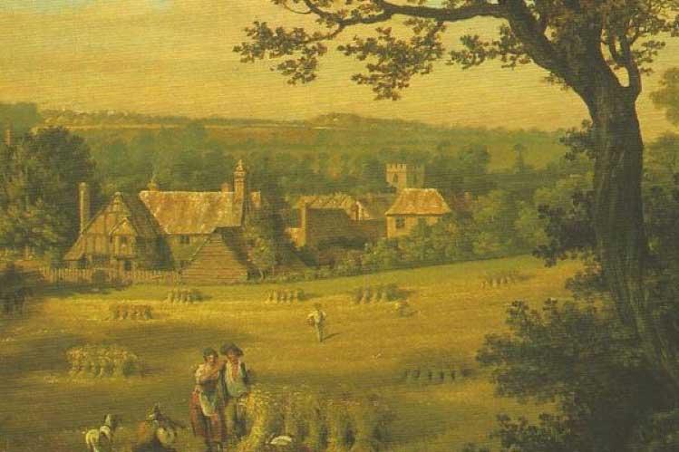 Milton's Cottage by Thomas Jones, 1774